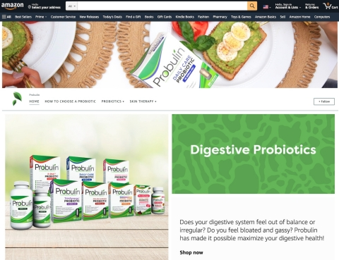 The Probulin Store on Amazon (Photo: Business Wire)
