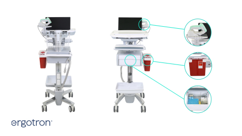 Ergotron's new Vaccination Cart enables efficient COVID-19 vaccination workflows. (Photo: Business Wire)