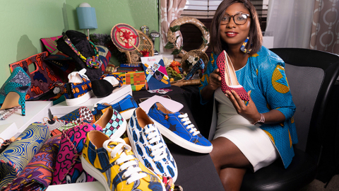 Kadijatu Ahene was able to pivot her business, Dija's Touch Designs, to an online model with help from Wells Fargo's Open for Business Fund. (Photo: Wells Fargo)