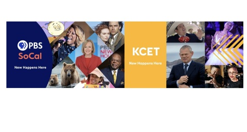 Key Art for New Rebranding Efforts for PBS SoCal and KCET. Image courtesy of Public Media Group of Southern California