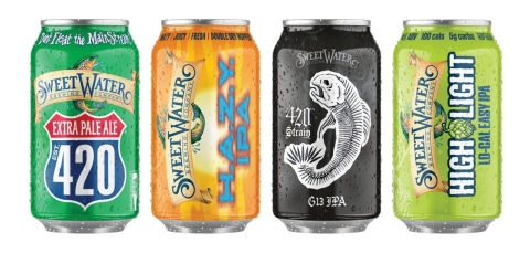 420 Extra Pale Ale, H.A.Z.Y. IPA, G13 IPA and High Light Lo-Cal Easy IPA Available Throughout Colorado (Photo: Business Wire)