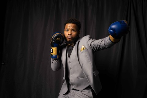 Pro Boxer Karim Mayfield opens his Authentic 415 cannabis dispensary in the Potrero Hill district of San Francisco on January 23rd, 2021. (Photo: Business Wire)