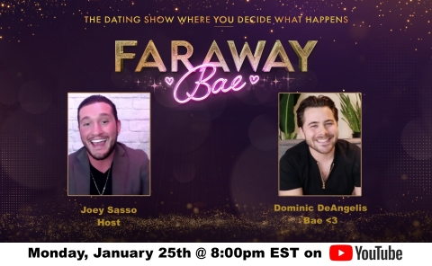 Tune in to Watch and Interact Live in Dominic's Journey for Love, at 8pm ET Starting Monday, January 25th on YouTube (Photo: Business Wire)