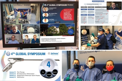 More than 300 participants from around the world participated in the Global Symposium of the ESPINEA® Academy in Karlsruhe. The online training event was sponsored by joimax®. (Graphic: Business Wire)