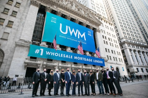UWM executive team in front of the New York Stock Exchange (Photo: Business Wire)