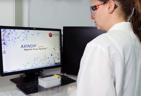 numare's AI-driven, NMR-based diagnostic platform AXINON is easy to operate by laboratory technicians. (Photo: Business Wire)