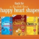 Vuelven las O de Cheerios en Forma de Corazones Contentos para Inspirar un Estilo de Vida Saludable para el Corazón