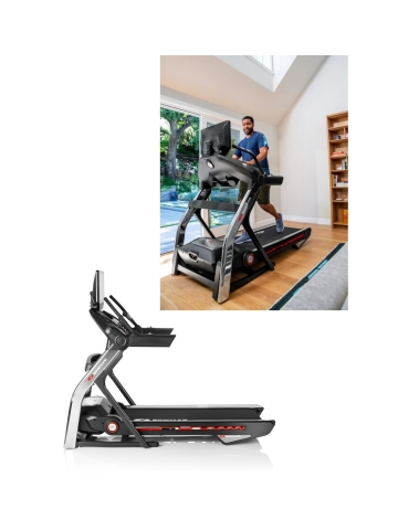 """New connected Bowflex® T22 treadmill offers a 22"""" HD touch screen console that integrates with the JRNY® digital fitness platform, motorized 20% incline and SoftDrop™ folding system. (Photo: Business Wire)"""