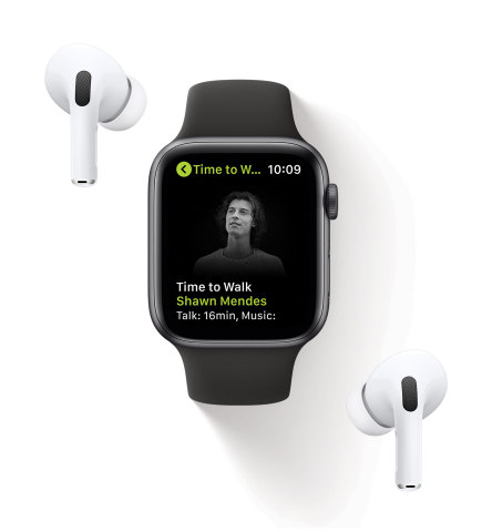 Time to Walk is an inspiring new audio walking experience on Apple Watch for Fitness+ subscribers, created to encourage users to walk more often and reap the benefits from one of the healthiest activities. (Photo: Business Wire)