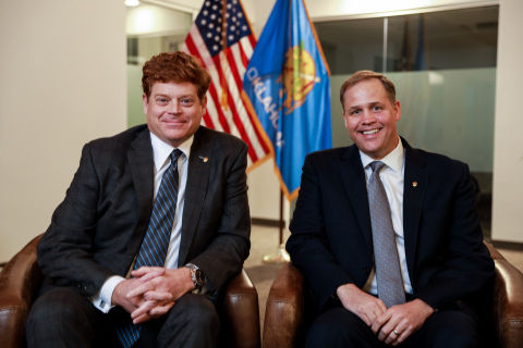 Acorn Growth Companies adds Jim Bridenstine, former Administrator of the National Aeronautics and Space Administration (NASA), as Senior Advisor. (from left to right: Rick Nagel and Jim Bridenstine) (Photo: Business Wire)