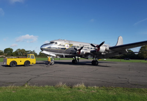 PPG today announced that it recently supplied coatings and sealants to help restore a 74-year-old, four-engine transport aircraft – the Douglas C-54 Skymaster, serial number 56498. (Photo: Business Wire)