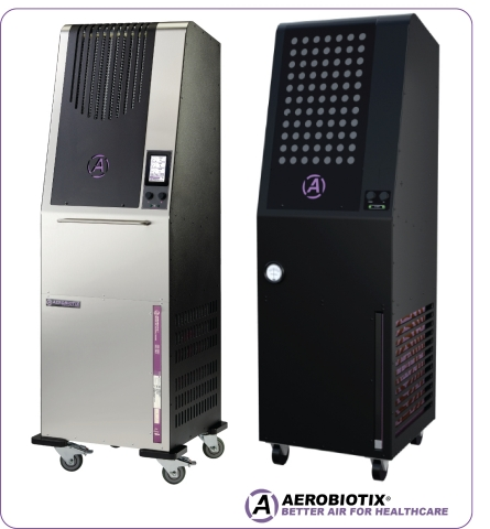 L: Illuvia, non-turbulent air system, R: Aerocure-MD medical air purification system (Photo: Business Wire)