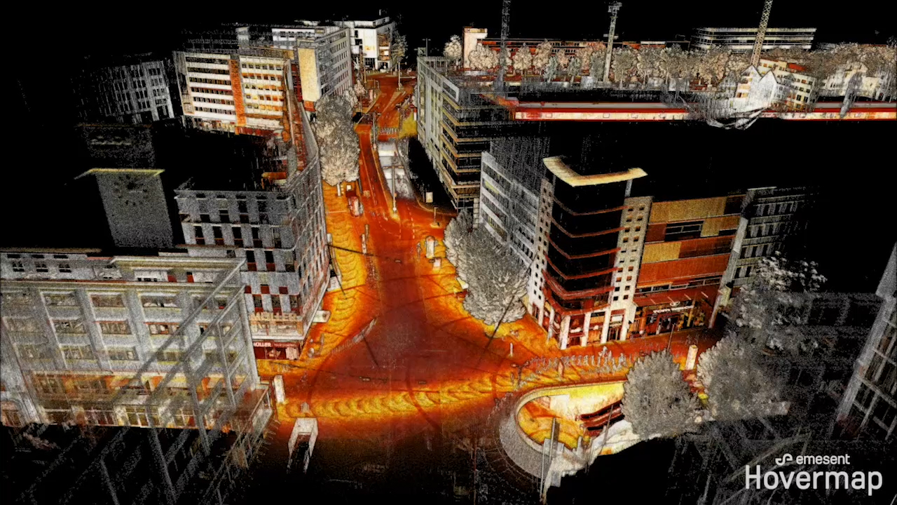 Emesent's Hovermap is equally capable above ground or underground, indoors or out. Hovermap, equipped with a Velodyne Puck LITE™ sensor, combines advanced collision avoidance and autonomous flight technologies to map challenging, inaccessible areas. (Video: Emesent)