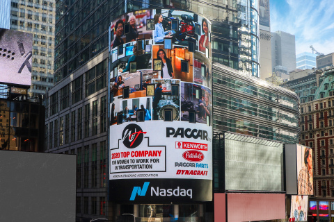"PACCAR Celebrates ""Top Company for Women"" Recognition in New York City (Photo: Business Wire)"