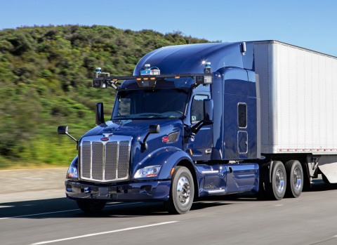 Autonomous Peterbilt 579 Test Vehicle with Aurora Driver (Photo: Business Wire)