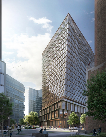A rendering of the new Boston Seaport office expansion at Amazon's Boston Tech Hub. (Credit: WS Development/Amazon)