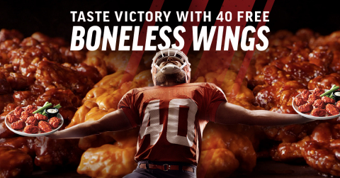 Touchdown! Applebee's Brings Back its Epic 1.6 Million Wings Giveaway and Free Delivery (Graphic: Business Wire)