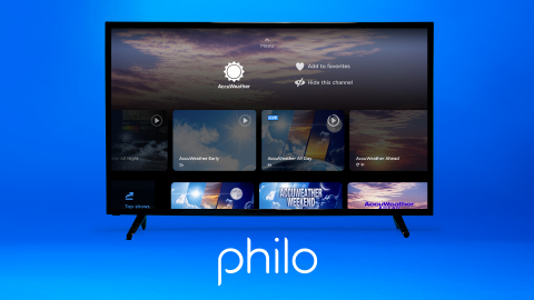 Philo customers now have access to the most accurate source of weather forecasts and warnings in the world just in time for the wild weather season. (Photo: Business Wire)