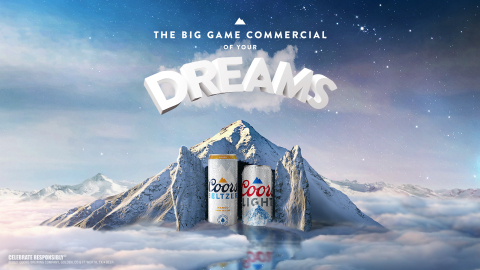 COORS LIGHT AND COORS SELTZER ARE CREATING THE FIRST BIG GAME AD THAT RUNS IN YOUR DREAMS (Photo: Business Wire)