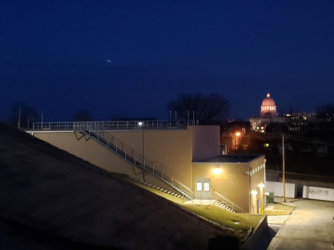 Jefferson City Clear Well At Night (Photo: Business Wire)