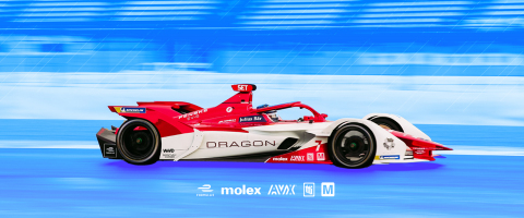 Mouser Electronics once again partners with the DRAGON / PENSKE AUTOSPORT Formula E team as they kick off the series' seventh season, and the first Formula E racing season as an FIA World Championship. (Photo: Business Wire)