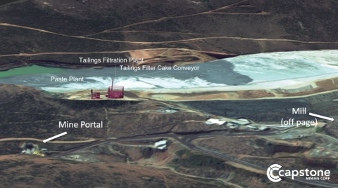 Figure 2. Future Location of Tailings Filtration and Paste Plant. The system is expected to be commissioned starting in Q4 2022, with ramp up completed in Q1 2023. (Photo: Business Wire)