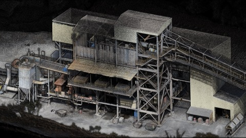 Emesent's Hovermap, equipped with a Velodyne Puck LITE™ sensor, has a colorization feature for its 3D point clouds that brings additional context for visualization and analysis. (Photo: Emesent)