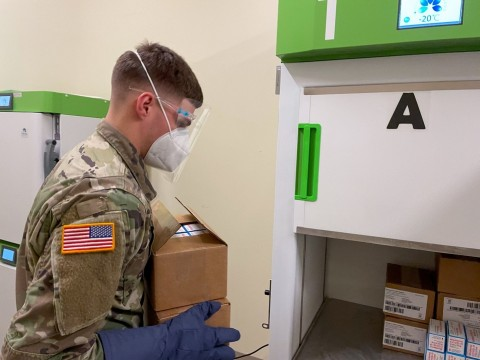 National Guard with Stirling Ultracold Freezer (Photo: Business Wire)