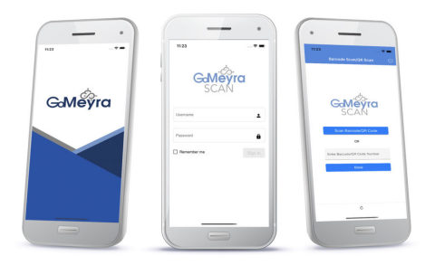The GoMeyra SCAN app is synced to a customized portal, where administrators can scan an employee or student's QR code or badge to find test results, which will determine if a faculty member or student can return to work or school safely during the pandemic. (Photo: Business Wire)
