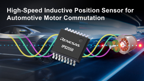 High-speed inductive position sensor for automotive motor commutation (Graphic: Business Wire)