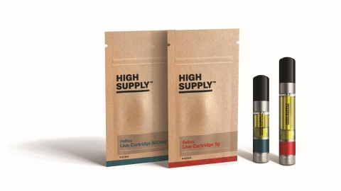 Cresco Labs' High Supply expanded portfolio includes 1.0 g and 0.5 mg Live Cartridges now available for purchase in California and Illinois. (Photo: Business Wire)
