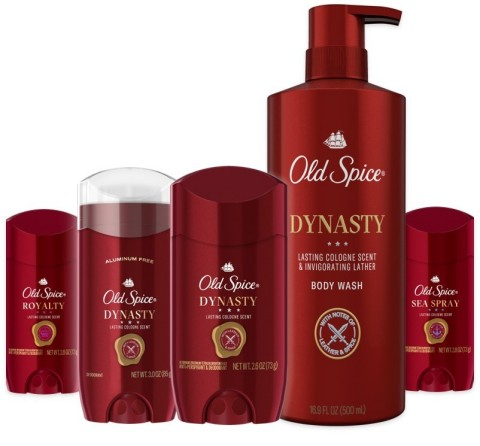 Old Spice Red Reserve debuts with three ridiculously long-lasting, cologne-quality scents - Dynasty, Sea Spray and Royalty. (Photo: Business Wire)