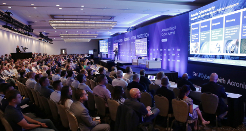 """Acronis CEO, Serguei """"SB"""" Beloussov, speaks to partners at the annual Acronis Global Cyber Summit (Photo: Business Wire)"""