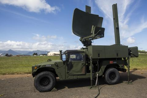 Under this new contract, BAE Systems will provide sustainment and engineering services for air traffic control (ATC) platforms, similar to the expeditionary ATC radar unit shown here being carried by a U.S. Marine Corps Humvee. (Photo: U.S. Marine Corps)