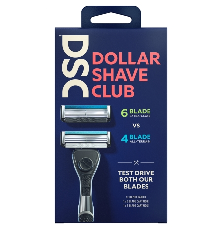 The 6 Blade vs 4 Blade Razor Starter Set is DSC's latest innovation that lets you decide which razor blade works best for you. (Photo: Business Wire)