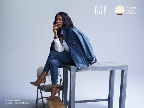 Gap Inc. Joins the 15 Percent Pledge. Aurora James, Founder, 15 Percent Pledge (Photo: Business Wire)