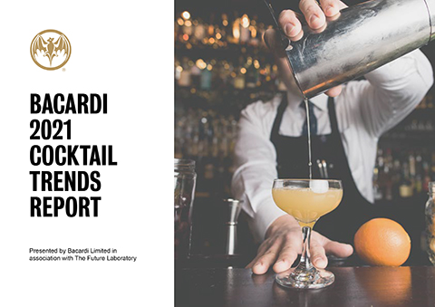 The Bacardi Cocktail Trends Report 2021 - From domestic hedonism to mindful moderation, everything you need to know about cocktail culture in the year ahead. The latest trends report by Bacardi reveals why we're craving spice and bitters, which cocktails recipes are on the rise, and how we're imbibing more mindfully in 2021.
