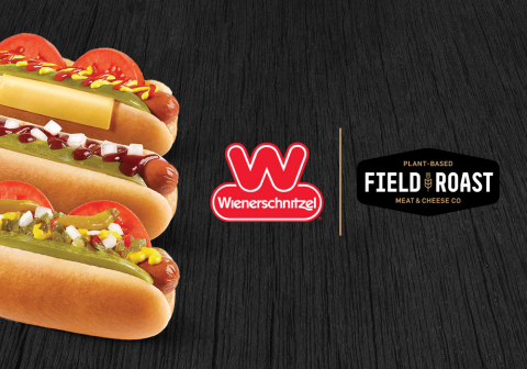 Starting today, hot dog lovers can try the new Field Roast Signature Stadium Dog at select Wienerschnitzel locations. (Graphic: Business Wire)