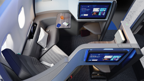 The all-new Mint Studio offers the most space in a premium experience from any U.S. airline.