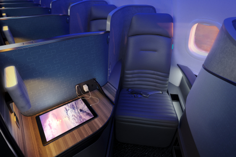 JetBlue's transatlantic Mint features 24 private suites with a sliding door for every Mint customer.