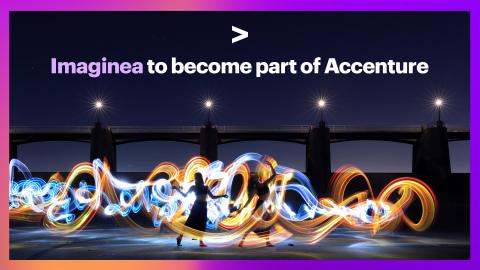Accenture to Acquire Imaginea (Photo: Business Wire)