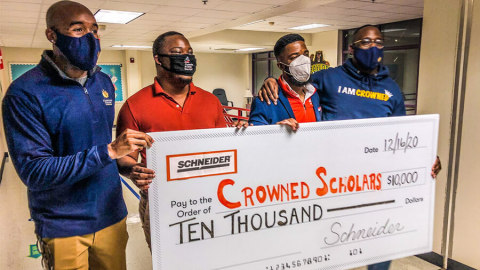 Crowned Scholars, located in Dallas, Texas, is one of 11 organizations to receive Diversity, Equality and Inclusion Grant from Schneider. (Photo: Business Wire)