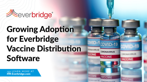 Public and Private Sector Demand Grows for Everbridge Critical Event Management (CEM) Software Supporting the Vaccine Rollout (Photo: Business Wire)