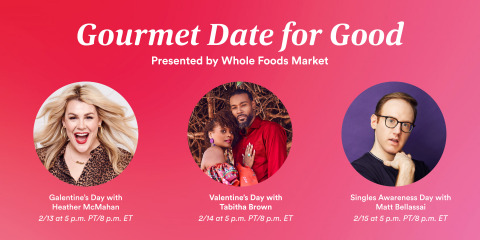 Gourmet Date for Good, Presented by Whole Foods Market.  (Photo: Business Wire)