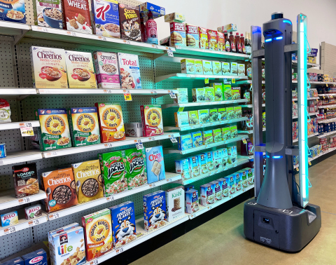 Badger UV Disinfect robot uses advanced UV-C technology to combat high-risk pathogens and improve store safety. (Photo: Business Wire)
