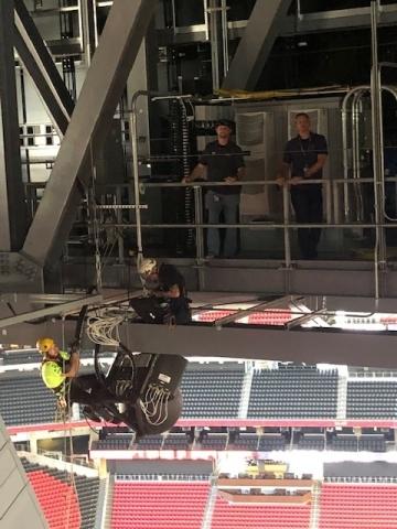 Beam Wireless stadium installation (Photo: Business Wire)