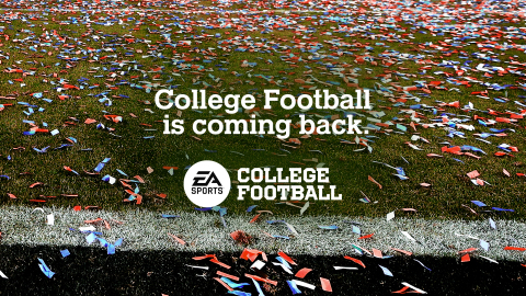 EA SPORTS is back in college football! (Graphic: Business Wire)