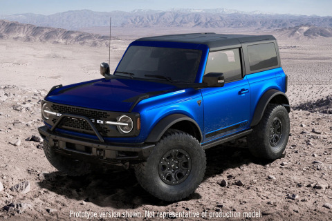 Barrett-Jackson will auction two of the world's most coveted VIN 001 vehicles for charity, the legendary 2021 Ford Bronco 2-door VIN 001 and 2021 Ford Mustang Mach 1 VIN 001 during the Scottsdale Auction at WestWorld of Scottsdale. (Photo: Business Wire)