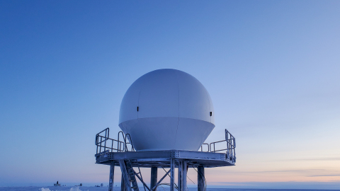 Pictured: ATLAS Space Operations and Quintillion 3.7M S/X-Band antenna in Utqiagvik, Alaska (Photo: Business Wire)