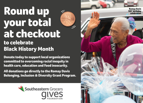 Beginning Feb. 3 through March 2, customers at all BI-LO, Fresco y Más, Harveys Supermarket and Winn-Dixie stores can make donations to the Romay Davis Belonging, Inclusion and Diversity Grant Program. (Photo: Business Wire)